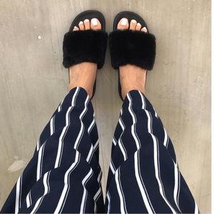 Women's Phoebe Faux Fur Slide Sandal Black